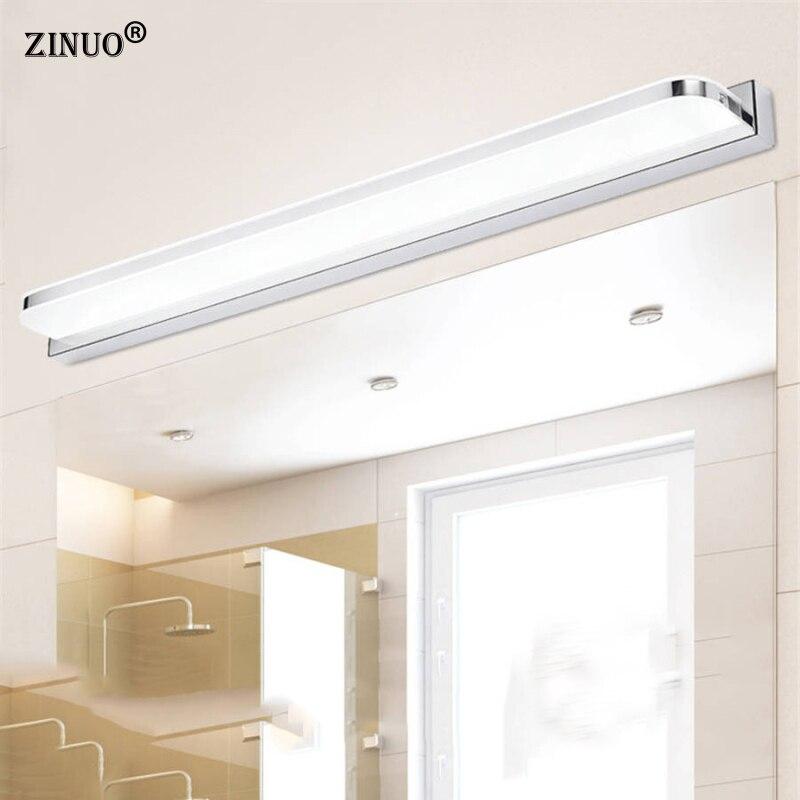 цена на ZINUO 7W 42CM LED Mirror Light AC220V Modern Cosmetic Acrylic Wall Lamp Bathroom Fixtures Waterproof Fog-proof For Bathroom b