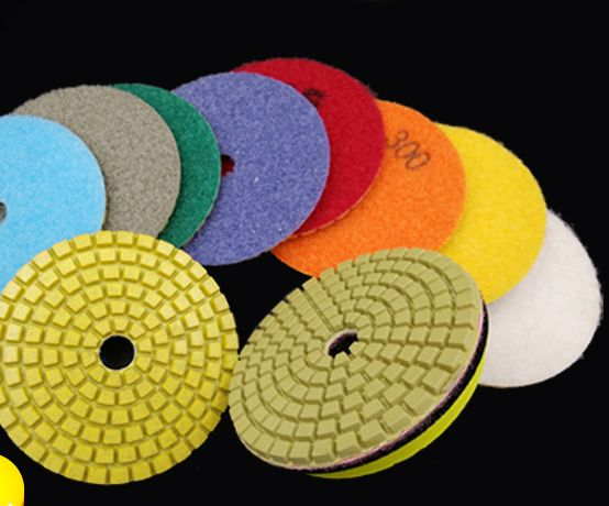 2pcs + 1 Sticky Disk 100mm 50#-3000# Polishing Pads Water Grinding Mill Sheet Fit for Marble Quartzite Stone Polishing Grinding 1pc white or green polishing paste wax polishing compounds for high lustre finishing on steels hard metals durale quality