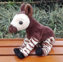 Stuffed Wild Animal Toy Doll  Simulation Okapi  Zebra  Giraffe Kids Plush Toys Dolls Gift  Rare