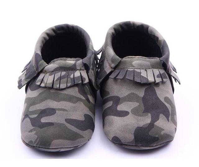 5824cecba2e22 New Camo Leopard Style Infant Toddler Boys Girls shoes First Walkers fringe  Newborn Baby Moccasins Soft