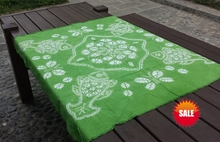 Japanese Shibori Tie dye Arts Squre Table Cloth / Many Uses Mats pads Cover Japan Style Handmade Kumo adornment 120*120cm
