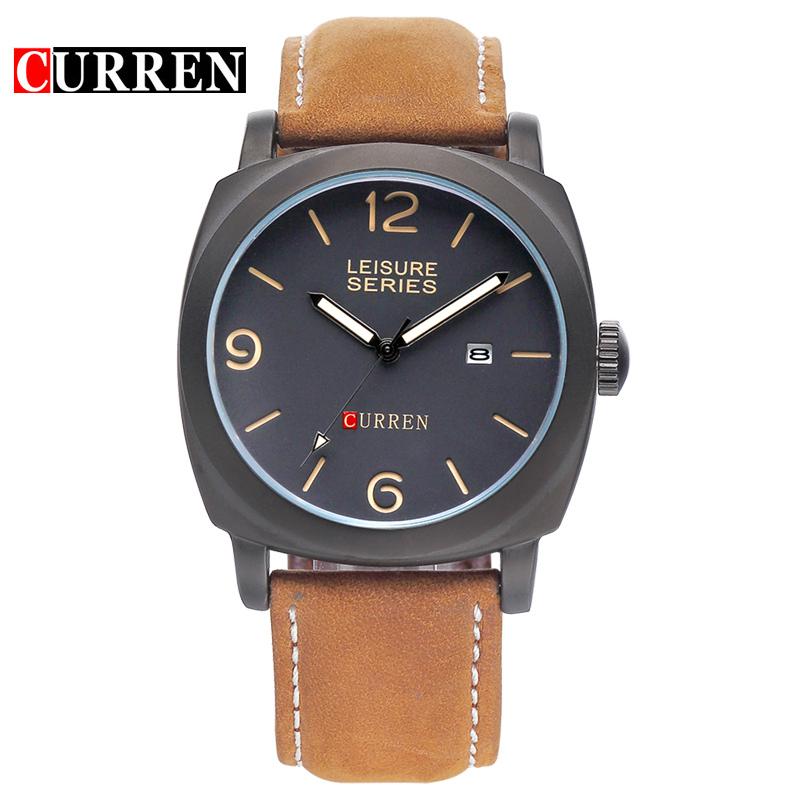 Prix pour Noir Or de mode curren 8158 montres hommes marque de luxe analogique sport militaire montre à quartz relogio masculino reloj hombre