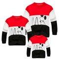 2016 Família Roupas Combinando SpringFamily Olhar patchwork Roupas Mãe e Filha Combinando t shirt das meninas dos meninos t camisa