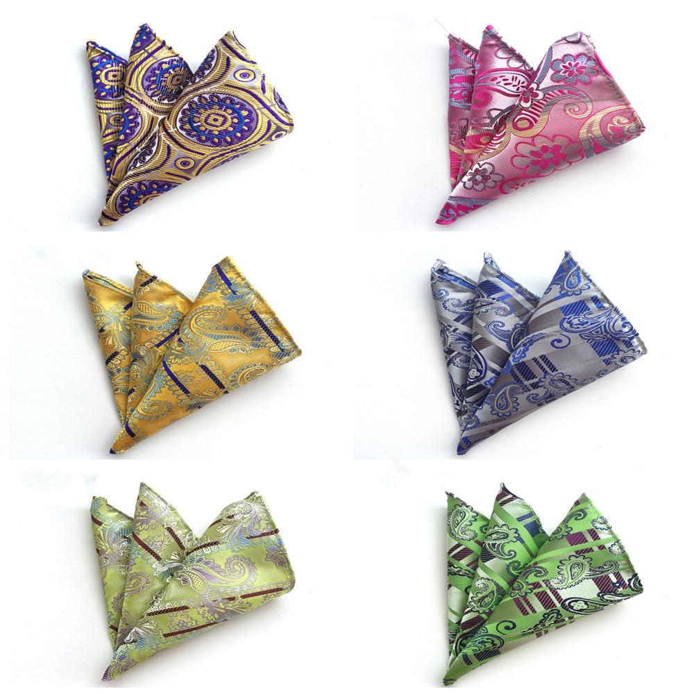 Fine Quality Polyester Silk Pocket Square Towel Handkerchief Fashion Explosion Business Men's Suit Accessories Pocket Towel