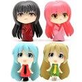 4 unids/lote Anime Vocaloid Hatsune Miku Figura Mini PVC Figuras de Acción Juguetes Muñecas Colección Modelo de Juguete para Niños de Navidad regalos