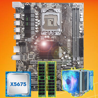 Brand motherboard on sale HUANAN ZHI X58 motherboard with CPU Intel Xeon X5675 3.06GHz with cooler 8G(2*4G) DDR3 REG ECC memory