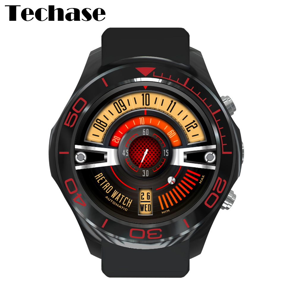 Techase New Smart Watch GPS Tracker MTK6572 Heart Rate Monitor Camera Android 5.1 ROM 4GB RAM 512 MB SIM TF Card for Android IOS цена и фото