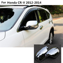 Car styling ABS Chrome rear view Rearview Side glass Mirror Cover trim frame 2pcs For Honda CRV CR-V 2012 2013 2014