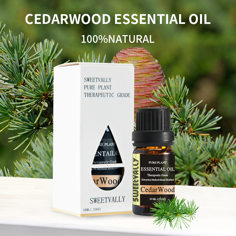 Essential-Oil Flower Cedarwood Diffusers Organic-Body Relieve-Stress 10ml For Fruit Help