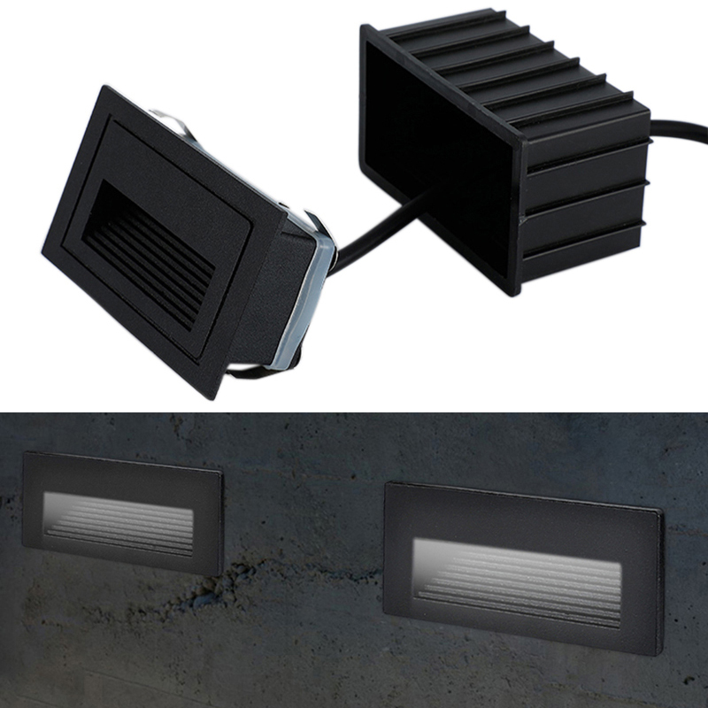 Outdoor LED Step Light Waterproof Stair Light Wall Embedded Underground Lamp Lighting Deck Footlights 85-265V IP65