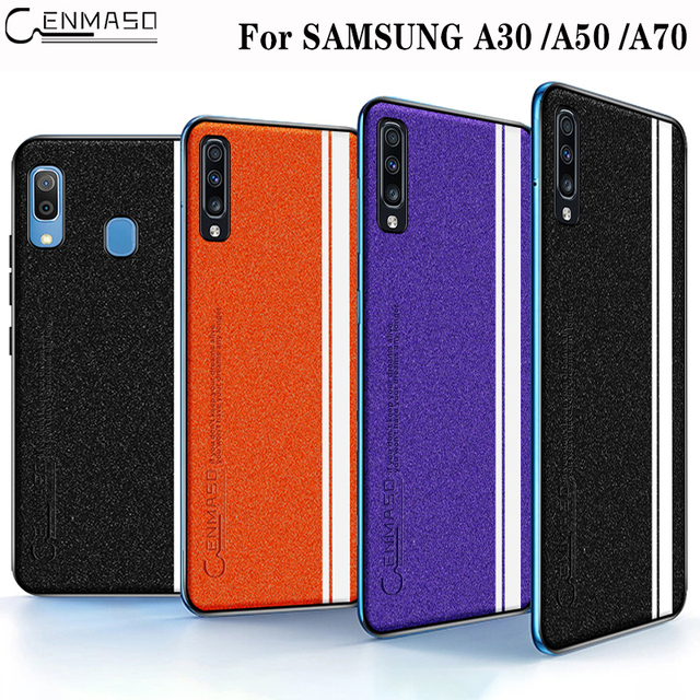 Samsung A30 A50 A70 Luxury Leather Culture Soft Edge Protection Back Case Cover