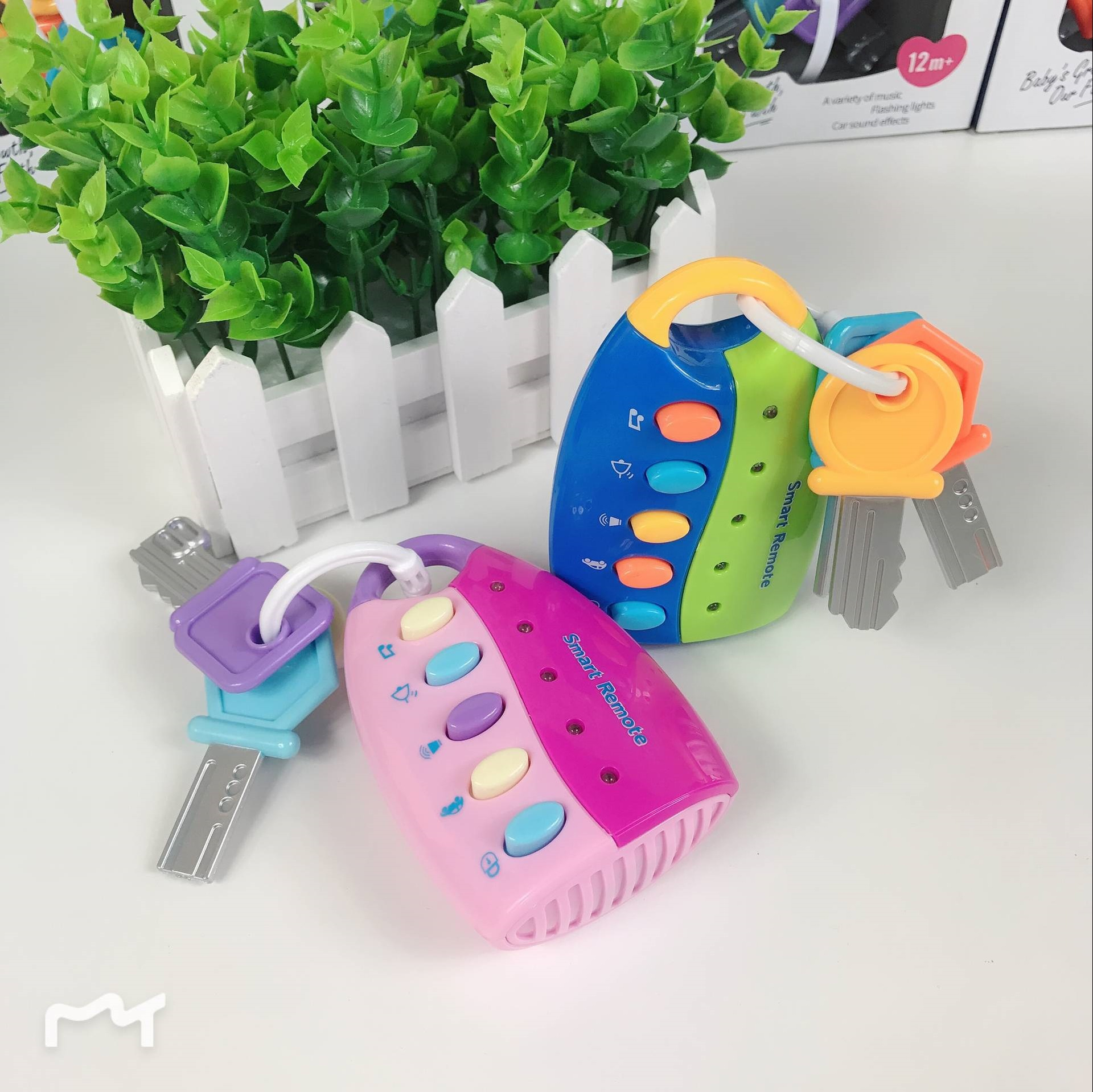 Baby Toy Musical Car Key Toy Smart Remote Car Voices Pretend Play Early Education Toys For Children Kids Funny Creative Gift Attractive And Durable