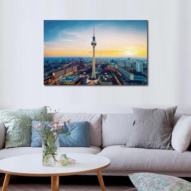 Stadt Fernsehturm Berlin Tv Turm Deutschland Hd Leinwand Druck Dekoration Wohnzimmer Wandbilder Malerei