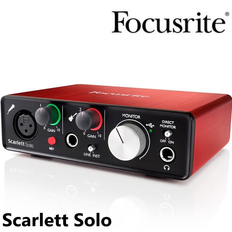 Focusrite Scarlett Solo USB Audio Interface sound card 2nd Generation 2 in 2 out professional recording