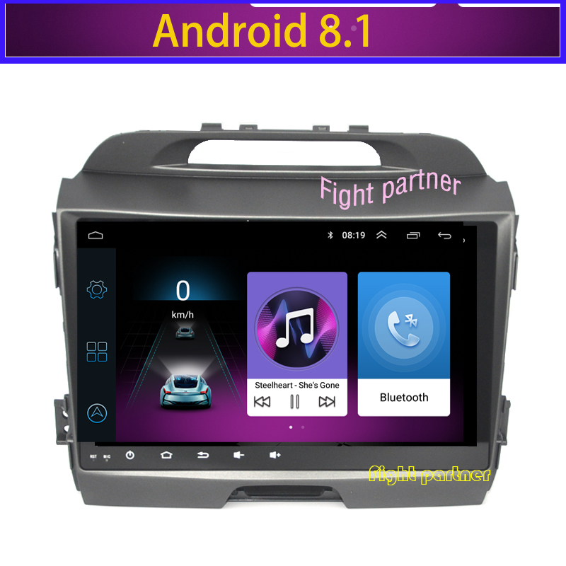 Factory price Fight partner android 8.1 car dvd player FOR KIA Sportage audio multimedia auto stereo