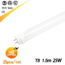 Free shipping 5ft Led Tube t8 1500mm CE and RoHS approved led tube 1.5M