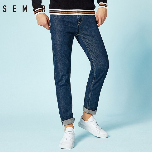 SEMIR Jeans Men Straight Thin Denim Trousers Men 2018 Autumn New Casual Jeans For Man Youth Korean Fashion Wild Male Trousers