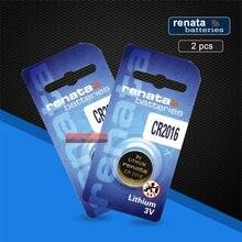 2pc renata 2016 3 v 100% originalbutton bateria cr2016 relógios 3 v bateria. controle remoto brinquedo carro bateria