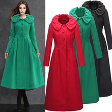 2015 New design winter overcoat wool coat jacket oversize islamic clothes  long cardigan casual abaya turkish dubai robe W082