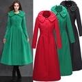 2015 novo design de lã casaco de inverno casaco jacket oversize roupa islâmica longo cardigan casual abaya turco dubai robe W082