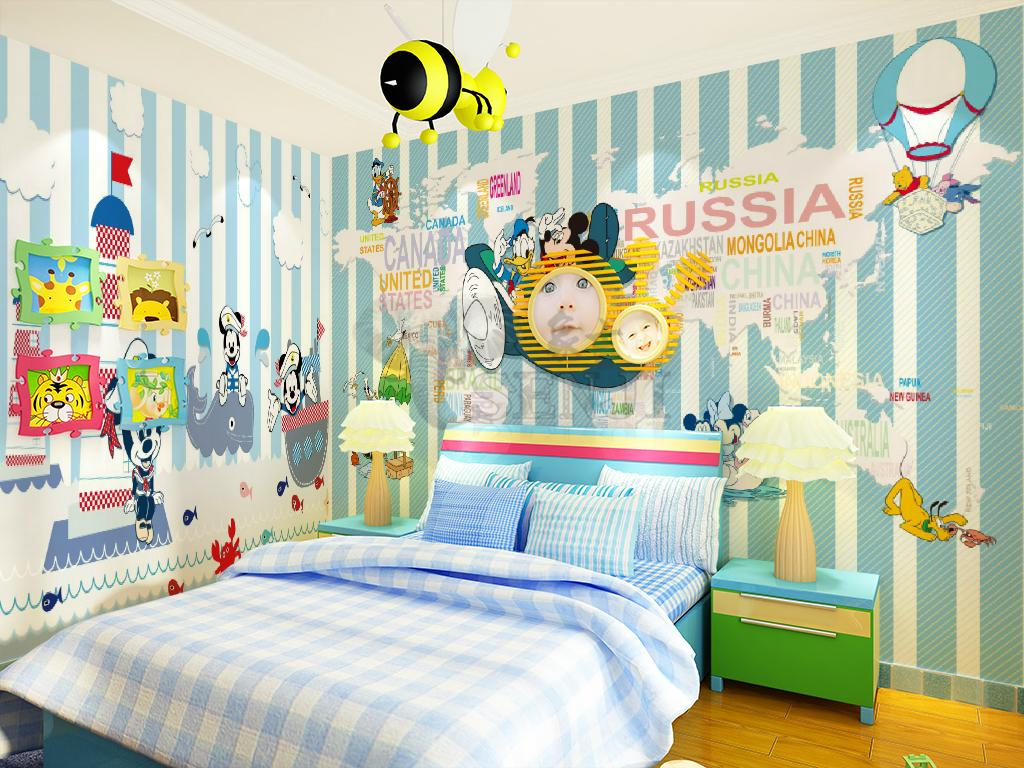 Mickey Mouse Bedroom Wallpaper Aliexpresscom Buy Mickey Mouse Wall Mural Donald Duck New
