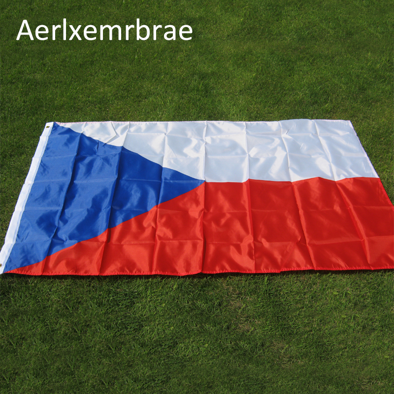 Бесплатная доставка, флаг aerlxemrbrae 90*150 см, флаг Чехии, полиэстер, Национальный флаг Чехии