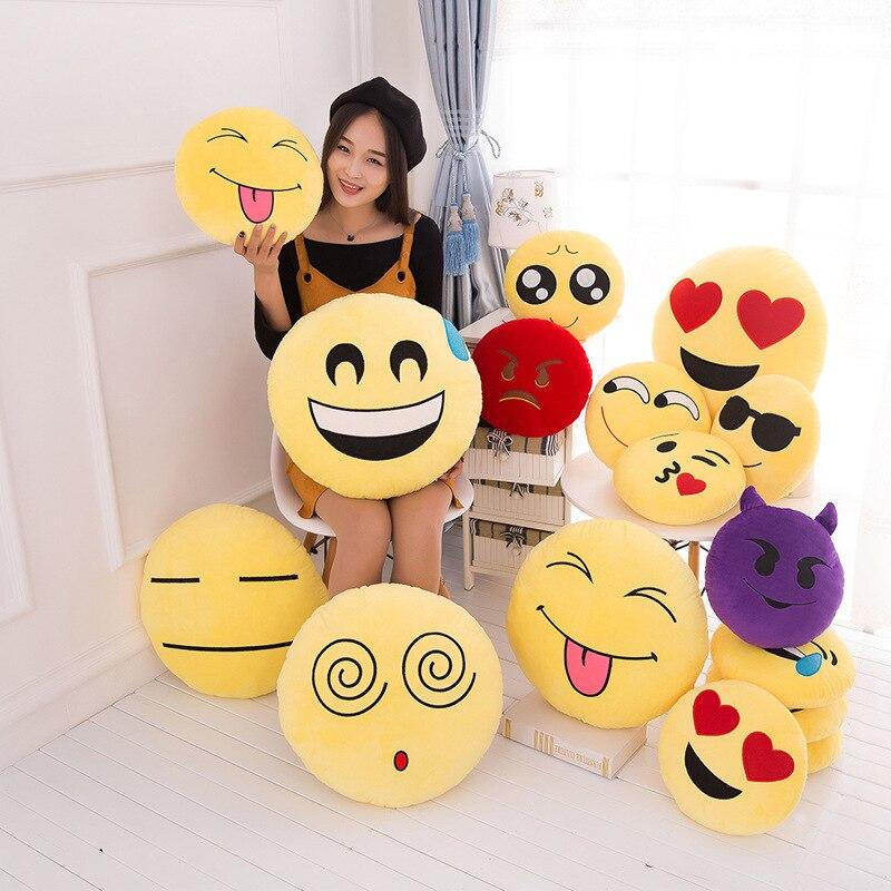 VILEAD Emoji Pillow Emoticon-Cushion Plush-Toy Car-Seat-Decorative Stuffed Funny Girlfriend