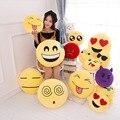 VILEAD lindo suave Smiley Emoji almohada divertido Emoticon cojín de peluche de juguete de felpa asiento de coche decorativo tiro almohada novia regalo