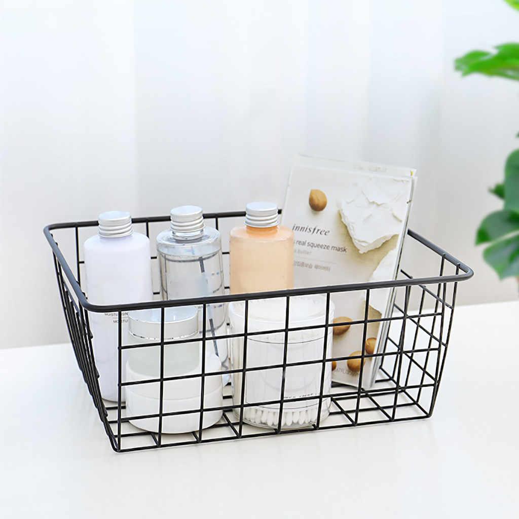 Dropshipping Fio de Ferro Cesta De Armazenamento Organizador casa de Banho/Cozinha/Lavandaria Quartos Multi-Efeitos organizador banheiro
