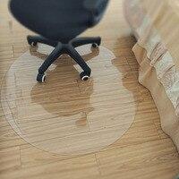 Lovrtravel proteção do assoalho de madeira transparente tapete do pvc cadeira computador tapetes protetores plástico macio tapete redondo