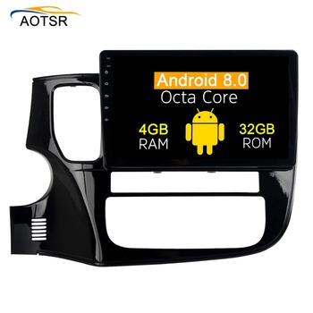 Android 8.0 car dvd Radio player For MITSUBISHI OUTLANDER 2014-2017 gps navigation car multimedia stereo head unit with 8 core image