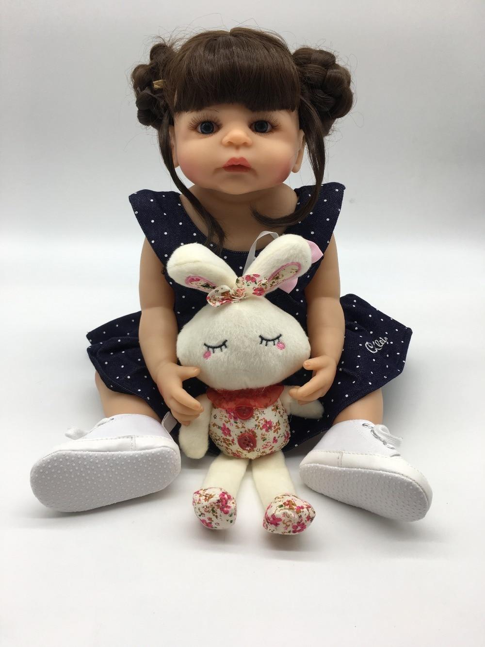 Bonecas reborn menina corpo de silicone réel 22 pouces 55 cm reborn bébé poupées enfant en bas âge fille vivant enfants cadeau jouet poupées