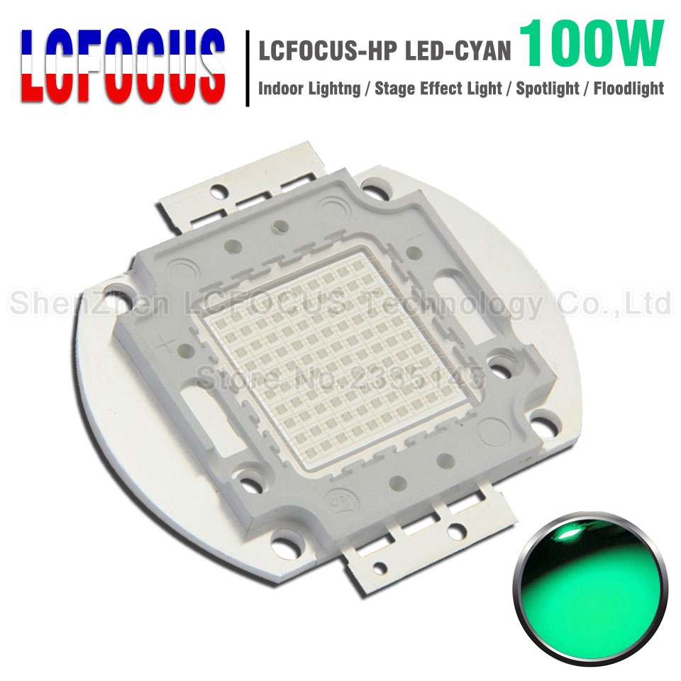 High Power LED Chip 100W Cyan 490-495nm SMD COB Diode DIY Outdoor Floodlight Spotlight Bulb Lamp For 100 200 W Watt Light Beads цена