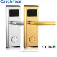 Cerradura de puerta de acero inoxidable de buena calidad  gran oferta  cerradura de puerta de tarjeta inteligente RFID  cerradura eléctrica de puerta del hotel