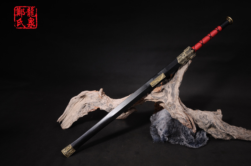 Traditional Chinese Sword Real Folded Steel Antique Bronze Fittings Home Decoration Matial Art