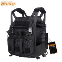 EXCELLENT ELITE SPANKER Outdoor Tactical Molle AMP System Vest with Detachable AK Triple Ammo Clips Military Hunting Vest
