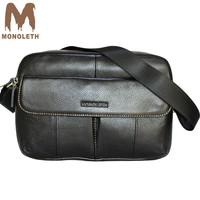 MONOLETH Italian style Briefcase Men bag genuine leather messenger bags business crossbody male bags husband Christmas gift