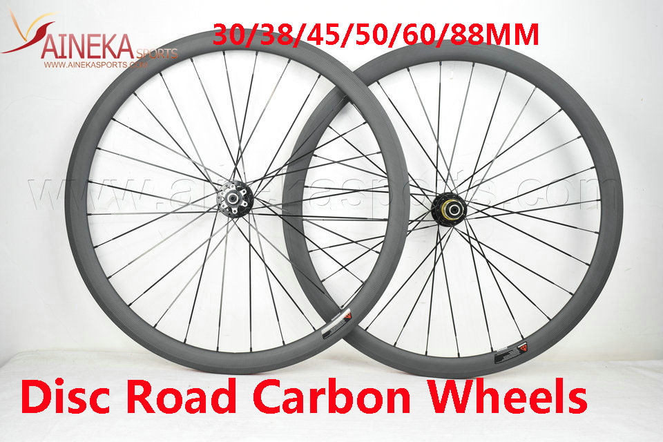 700c Disc Wheelset >> 700c Disc Brake Carbon Wheels 30mm 35mm 38mm 45mm 50mm 60mm Clincher Tubular Wheelset Road Bike Cyclocross Wheelset