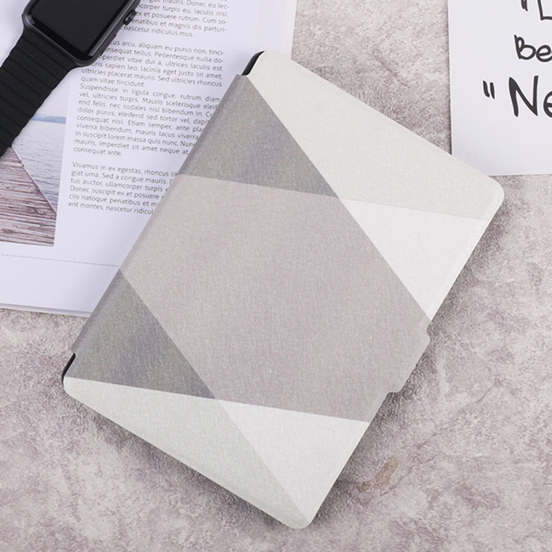 Case for Kindle Paperwhite Gray Series Smart Auto Sleep/Wake PU Leather Cover for Amazon Kindle Paper white 1 2 3 lichee pattern protective pu leather case stand w auto sleep cover for google nexus 7 ii white