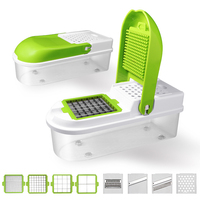8 In 1 Vegetable Cutter Manual Potato Peeler with 8 Dicing Blades Carrot Grater Dicer Kitchen Chopper Tools Vegetable Slicer