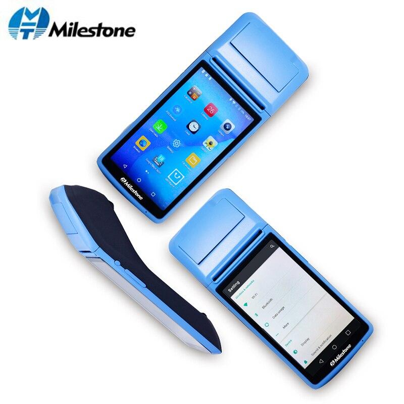 Веха пос-терминал принтер чековый сенсорный экран Bluetooth wifi GPRS POS машина USB SIM Портативный беспроводной Android