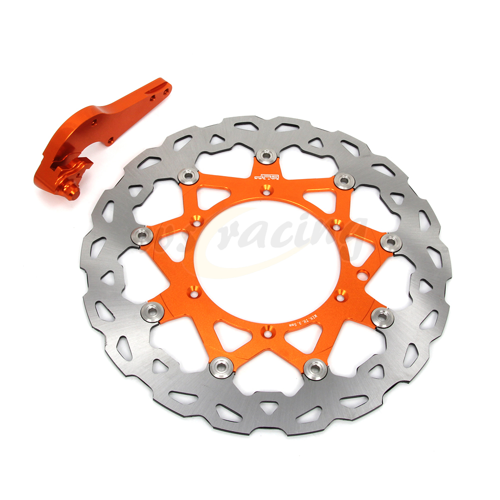 CNC 320MM Motorcycle Front Floating Brake Disc & Bracket For KTM GS300 MXC300 MX300 SX300 XC300 XCW300 GS350 EXC380 SX380 EXC400 front brake disc rotor for ktm 380 exc 1998 1999 2000 2001 2002 sx mxc 1998 2001 400 egs exc g xc w 2007 2008 2009 07 08 09