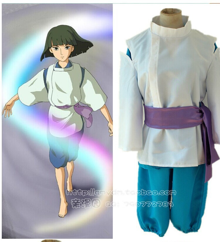 japan anime Spirited Away Haku cosplay costume Kimono shop halloween costumes