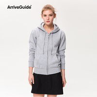 2017 Hoodies Sweatshirt Ladies Women Men Coat Top NEW Unisex Plain Zip Up Hooded Zipper Fleece