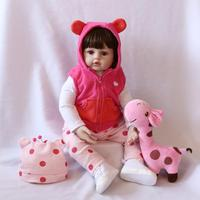 60cm soft silicone vinyl reborn doll hot toys for girls stuffed animals kids toys for children juguetes brinquedos