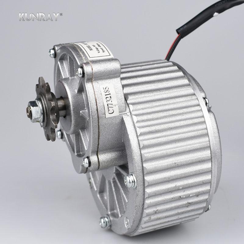 KUNRAY MY1018 450 W 24 V 36 V Motore Spazzolato Gear Motore di CC Per La Bici Elettrica Ebike Ruota Posteriore Motore E-Scooter Accessori Per Biciclette