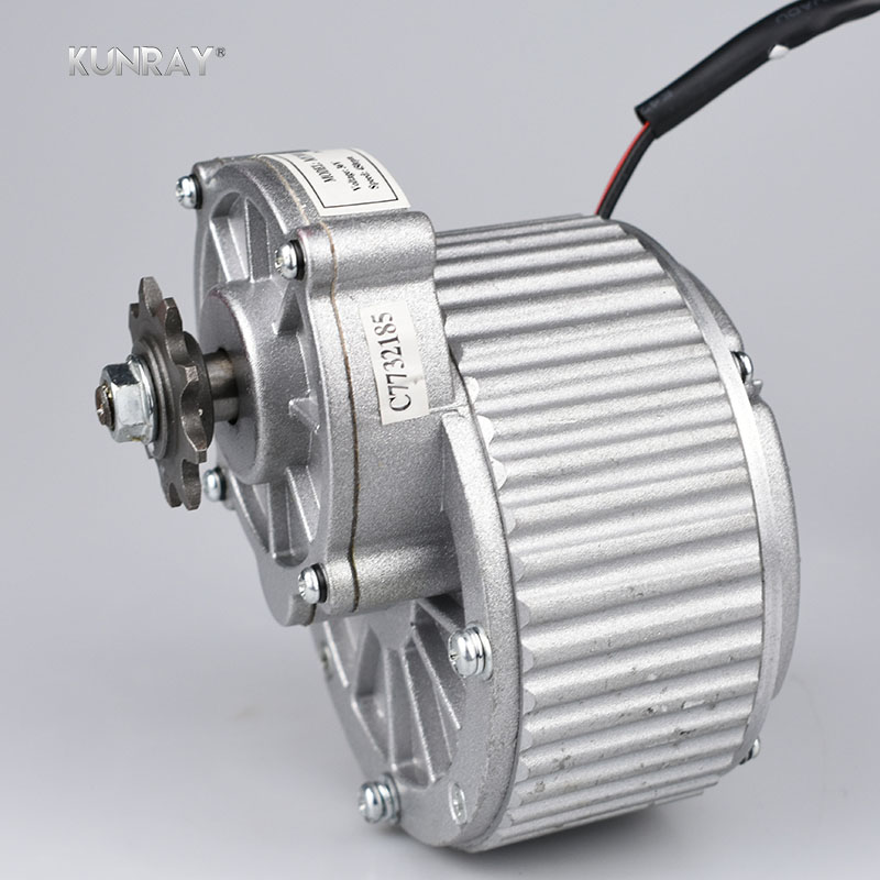 купить KUNRAY MY1018 450W 24V 36V Brushed Gear DC Motor For Electric Bike Engine Ebike Rear Wheel Motor E-Scooter Bicycle Accessories по цене 4313.76 рублей