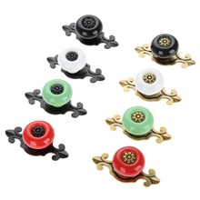 8Pcs Furniture Handle Ceramic Cabinet Knobs and Handles Door Cupboard Drawer Kitchen Pull Fittings Black Red