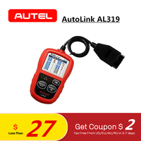 Autel AutoLink AL319 Auto Diagnostic Tool OBD2 Code Reader autel al319 scanner automotriz read and erase code PK elm327 ML319