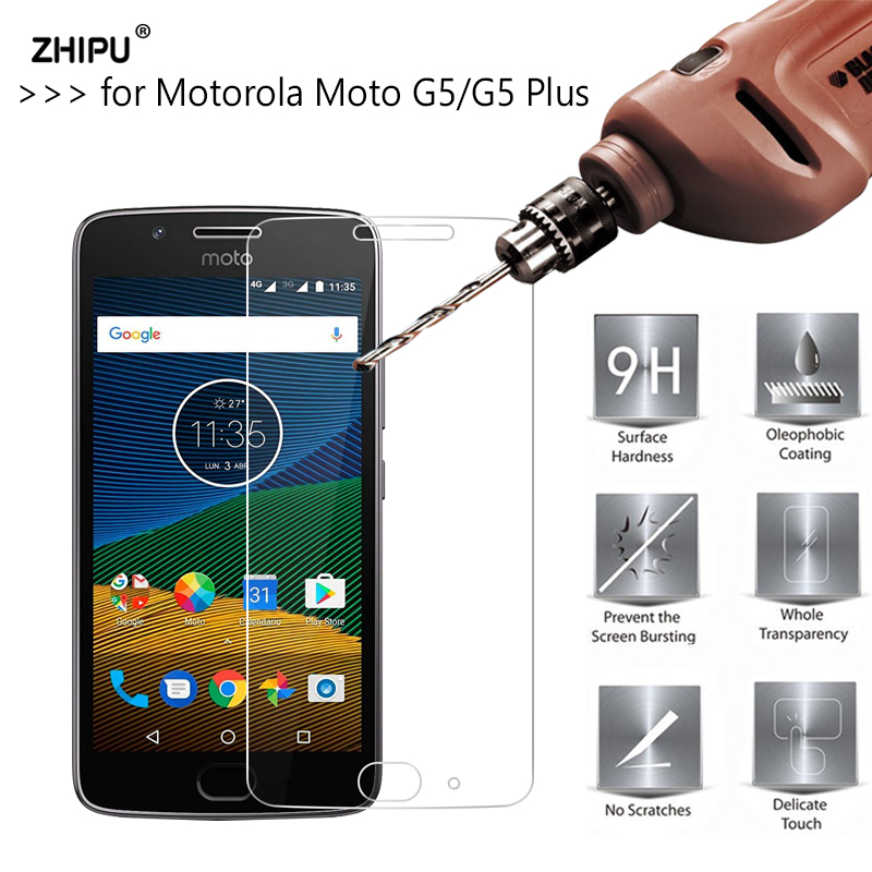 2.5D 0.26Mm 9H Premium Tempered Glass For Motorola Moto G5 & Moto G5 Plus Screen Protector Toughened Protective Film
